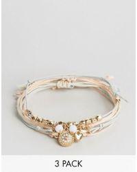 Ashiana - 3 Pack Beaded Bracelets - Lyst