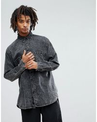 d6bbee9dffb Lyst - Cheap Monday Shirt Torex Twill Positivism All Over Print in ...
