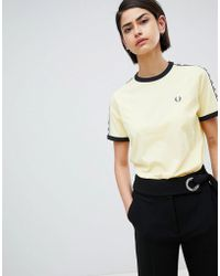 Fred Perry - Ringer T-shirt With Logo Tape - Lyst