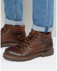 Shoe The Bear - Russ Leather Lace Up Boots - Lyst