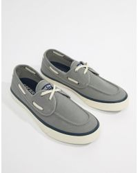 Sperry Top-Sider - Topsider Trainer Boat Shoes In Grey - Lyst