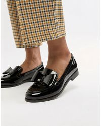 Office - Flat Leather Bow Loafers - Lyst