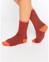 Johnstons - Striped Socks - Lyst