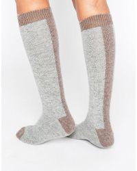 Johnstons - Cashmere Long Socks - Lyst