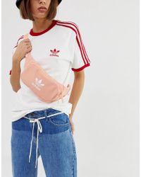 adidas Originals - Trefoil Bumbag In Pink - Lyst