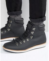 Call It Spring - Valsalega Laceup Boots - Black - Lyst