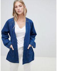 Weekday - Denim Kimono Jacket - Lyst