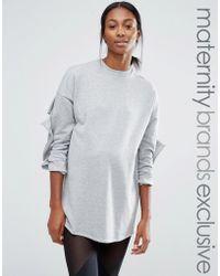 Bluebelle Maternity - Lounge Sweatshirt With Ruffle Sleeve - Lyst