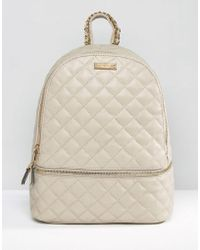 ALDO - Quilted Backpack With Zip Around Pocket - Lyst