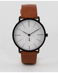 Skagen - Skw6216 Hagen Leather Watch In Tan - Lyst