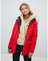 New Look - Faux Fur Hooded Parka - Lyst