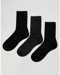 French Connection - Three Pack Socks - Lyst