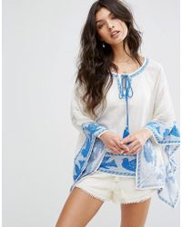 Star Mela - Ani Embroidered Top - Lyst