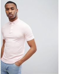 New Look - Muscle Fit Polo Shirt In Pink - Lyst