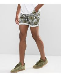 ASOS - Tall Slim Shorter Chino Shorts With Dragonfly Print - Lyst