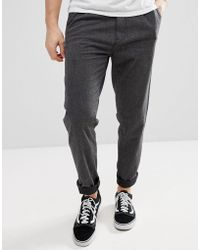 Esprit - Loose Fit Smart Trousers In Brushed Cotton - Lyst