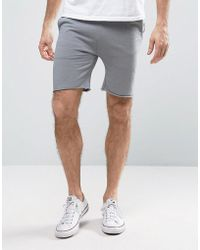 ASOS - Super Skinny Jersey Shorts With Raw Edge - Lyst