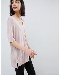 SELECTED - V Neck T-shirt - Lyst