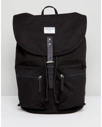 Sandqvist - Roald Backpack In Black - Lyst