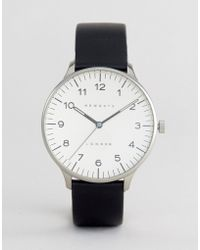 Newgate Watches - Blip Black Leather Watch With Cream Dial - Lyst