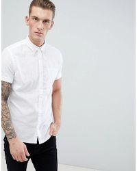 Produkt - Short Sleeve Linen Mix Shirt - Lyst