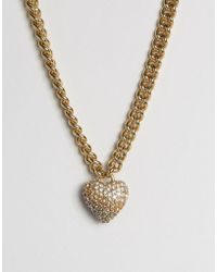 Juicy Couture - Champagne Ombre Heart & Chain Necklace - Lyst