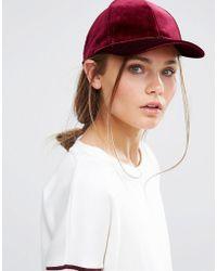 New Look - Velvet Cap - Red - Lyst