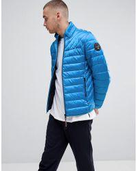 Napapijri - Aerons Quilted Jacket In Blue - Lyst