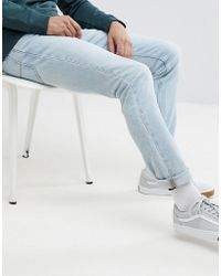Lee Jeans - Rider Slim Jeans In Moonstone (light Wash - Lyst
