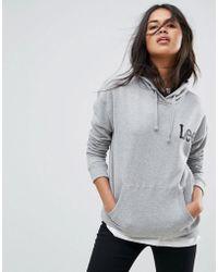 Lee Jeans   Logo Hoody   Lyst