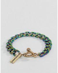 Steve Madden - Rainbow Shimmer Chain Bracelet - Lyst