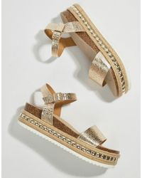 Faith - Studded Flatform Espadrille Sandals - Lyst