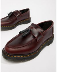 Dr. Martens - Adrian Tassel Loafers In Deep Red - Lyst