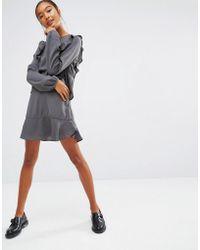 First & I - Ruffle Hem Skirt - Lyst