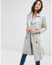 Mango - Double Breasted Belted Trench Coat - Lyst