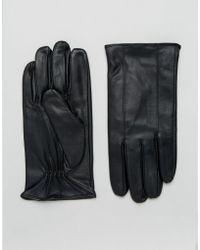 Barneys Originals - Barneys Classic Black Leather Gloves - Lyst