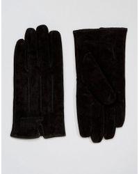 Barneys Originals - Barneys Casual Suede Gloves In Black - Lyst