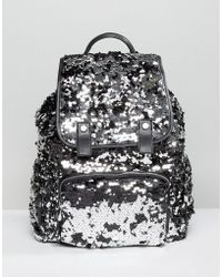 Miss Selfridge - Sequin Backpack - Lyst