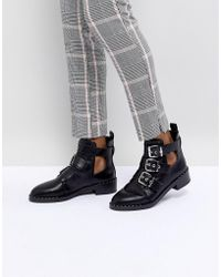 Pull&Bear - Cutout Multi Buckle Boot - Lyst
