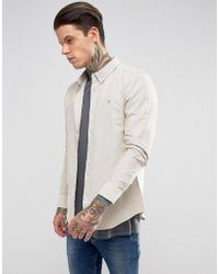 Farah - Long Sleeve Slim Shirt - Lyst