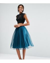 True Decadence - All Over Tulle Full Midi Skirt - Lyst