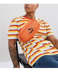 PUMA - Bumbag In Orange Exclusive To Asos - Lyst