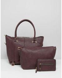 Oasis - Asis Gold Trim Shopper Bag - Lyst