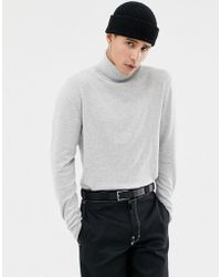 Jack & Jones - Premium Knitted Roll Neck With Contrast Cuff Tipping - Lyst