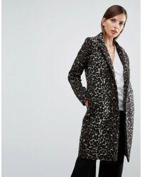 Y.A.S - Leopard Print Coat - Lyst
