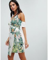 Adelyn Rae - Prescilla Print Wrap Dress - Lyst