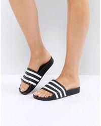 adidas Originals - Originals Adilette Slider Sandals In Black - Lyst