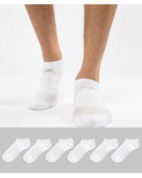 New Balance - 6 Pack No Show Socks In White N4010-032-6eu Wht - Lyst