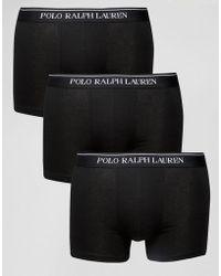 Polo Ralph Lauren - Trunks In 3 Pack - Lyst