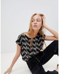 B.Young - Zig Zag Shell Top - Lyst